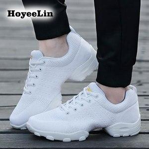 Image 5 - Hoyeelin 메쉬 재즈 신발 남자의 현대 소프트 outsole 댄스 스 니 커 즈 통기성 춤 피트 니스 훈련 신발