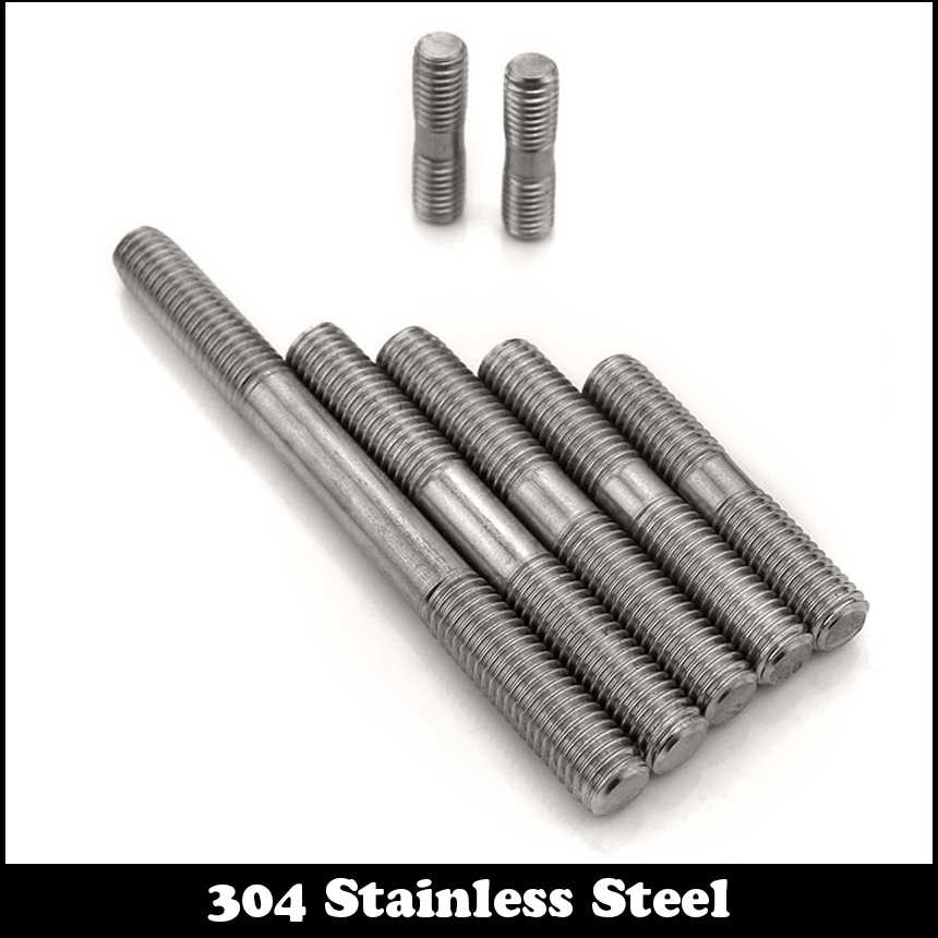 M8 x 150mm Tight Adjustable Push Double End Thread Stud Teeth Rod 10pcs