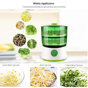 Image 2 - Digital Home DIY Bean Sprouts Maker 2 Layer  Automatic Electric Germinator Seed Vegetable Seedling Growth Bucket Biolomix