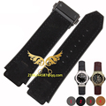 25*19mm high quality 4 colours genuine leather Watch strap with Gold stainless steel buckle free shipping