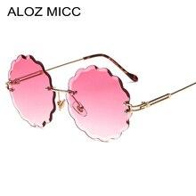 ALOZ MICC Rimless Round Sunglasses Women 2019 New Fashion Sun Glasses Female Metal Frame Goggles Eyewear UV400 Q651