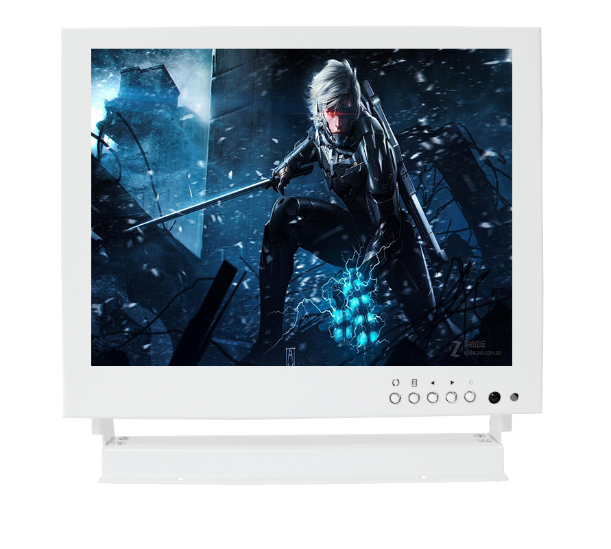 8 inch industrial safety monitoring computer LCD monitor display BNC AV VGA hd metal white 8 inch open frame industrial monitor metal monitor with vga av bnc hdmi monitor