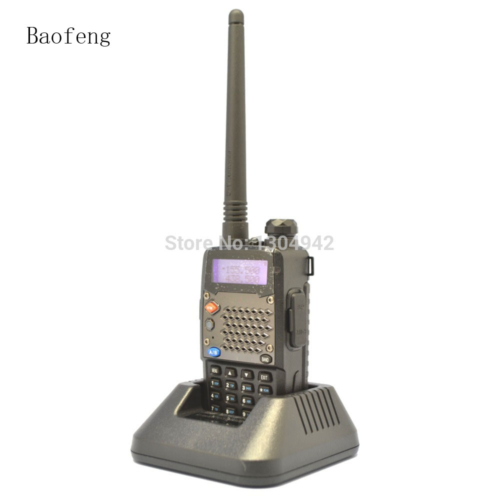 2PCS Black BaoFeng UV-5RD Amateur Ham Dual Band Two Way Radio VHF/UHF 136-174&400-520MHz Walkie Talkie With Free Shipping