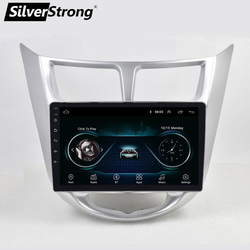SilverStrong Android8.1 Universal Solaris gps navigation player stereo for Hyundai Solaris Verna radio car multimedia playerSilverStrong Android8.1 Universal Solaris gps navigation player stereo for Hyundai Solaris Verna radio car multimedia player