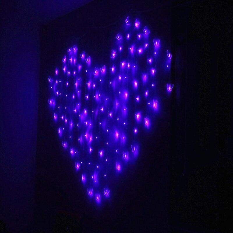 2 * 1.6M 110V / 220V Love Heart LED String Light Holiday Lights - Festlig belysning - Foto 3
