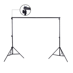 Image 5 - Photography 2 * 3m / 6.6 * 9.8ft Photo Studio Kit Adjustable Background Support Stand Photo Backdrop Crossbar Kit with two Clamp