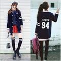 G-dragon BIGBANG kpop Espesar chaqueta Larga sección de la capa del hoodie GD EXO lobo sudadera GD ropa de Béisbol capa uniforme de BT chaqueta