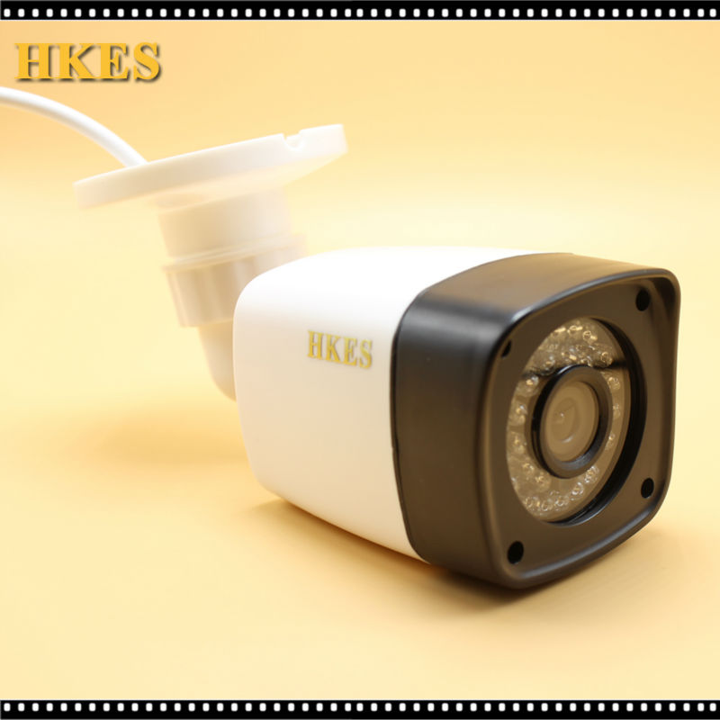 HKES H.264 2MP Security IP POE Camera Outdoor CCTV Full HD 1080P 2.0 Megapixel Bullet Camera IP Lens IR Cut Filter ONVIF  LED