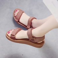 Women Sandals Slip On Elastic Band Peep Toe Female Summer Shoes Platform Flat Roman Sandals Ladies Comfortable Footwear NVLX1