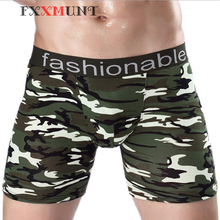 Big Penis Boxer Men Cotton Camouflage Shorts for Army Underwear 365 Male Pouch Long Trunks CP06