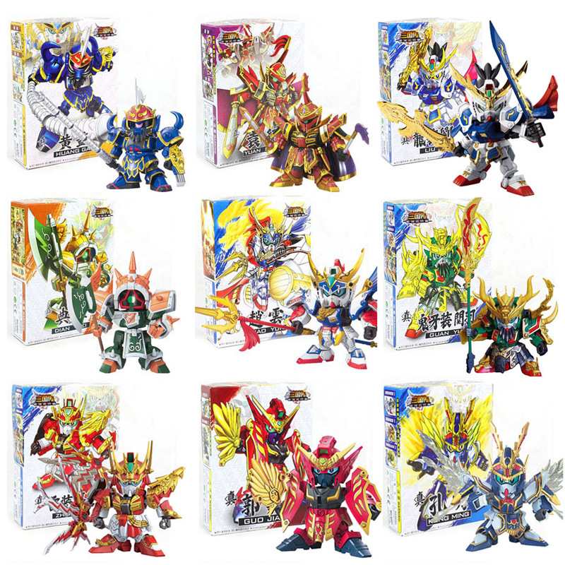 28 Styles Hot Three Kingdoms Gundam SD/BB Action figure Model toys for Children one piece figure anime Robot Hobby toys Puzzle