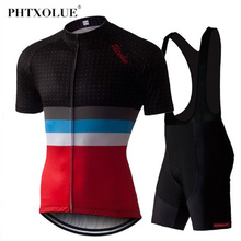 все цены на Phtxolue Pro Cycling Set MTB Bike Cycling Jerseys Set Racing Bicycle Clothes Cycling Clothing Set Maillot Ropa Ciclismo онлайн
