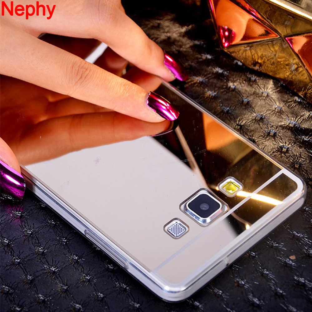 Nephy Mềm Silicone TPU Gương Điện Thoại Trường Hợp Đối Với Samsung Galaxy J7 Neo Nxt J1 J3 J5 2015 2016 2017 J4 j6 J8 2018 Đại Thủ Bìa