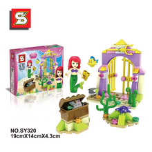 2016 new S brand girl scenarios Assembling building blocks educational Action toy Figures mermaid SY320