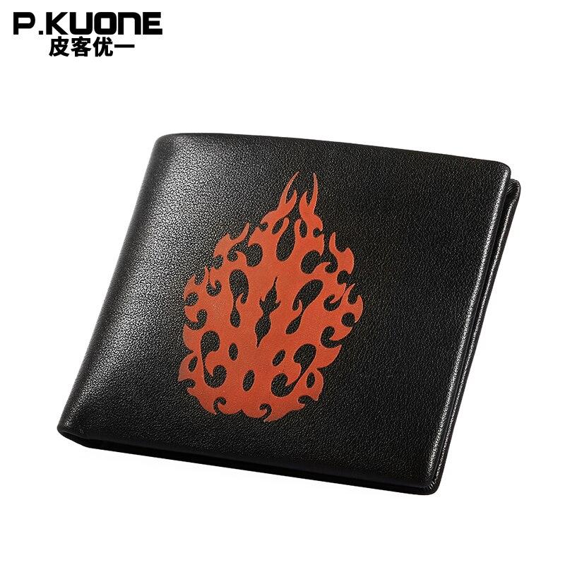 P. KUONE magique changements flamme couleur portefeuille affaires hommes mode sac à main de haute qualité célèbre marque de luxe Long portefeuille nouveau Design