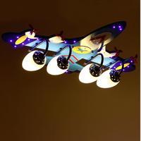 Детская спальня лампа мультфильм самолет творческая личность Мальчик номер детского сада потолочный светильник светодио дный потолочного