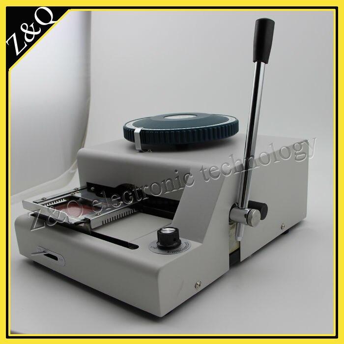 72 caractère typographique id pvc carte embosseuse machine