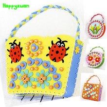 Happyxuan 4pcs Copii DIY EVA cusut sac copii Art Craft Kituri Materiale realizate manual de jucării creative pentru fete Cadouri pentru zile de naștere