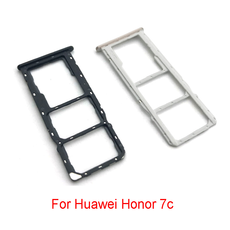 10 Pcs/Lot New For Huawei Honor 7c SIM Card Tary Reader Holder Slot Replacement Parts
