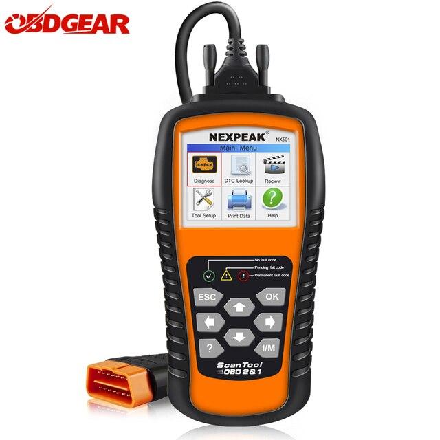 Cheap Car Diagnostic tool OBD2 Scanner Automotivo NEKPEAK NX501 OBD 2 Code Reader Diagnostic Tool in Russian Much Better than elm 327