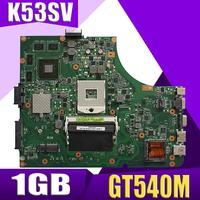 Xinkaidi K53SV Scheda Madre Del Computer Portatile per Asus K53SM K53SC K53S K53SJ P53SJ A53SJ Prova Mainboard Originale 3.0/3.1 GT540M 1GB-in Schede madre da Computer e ufficio su