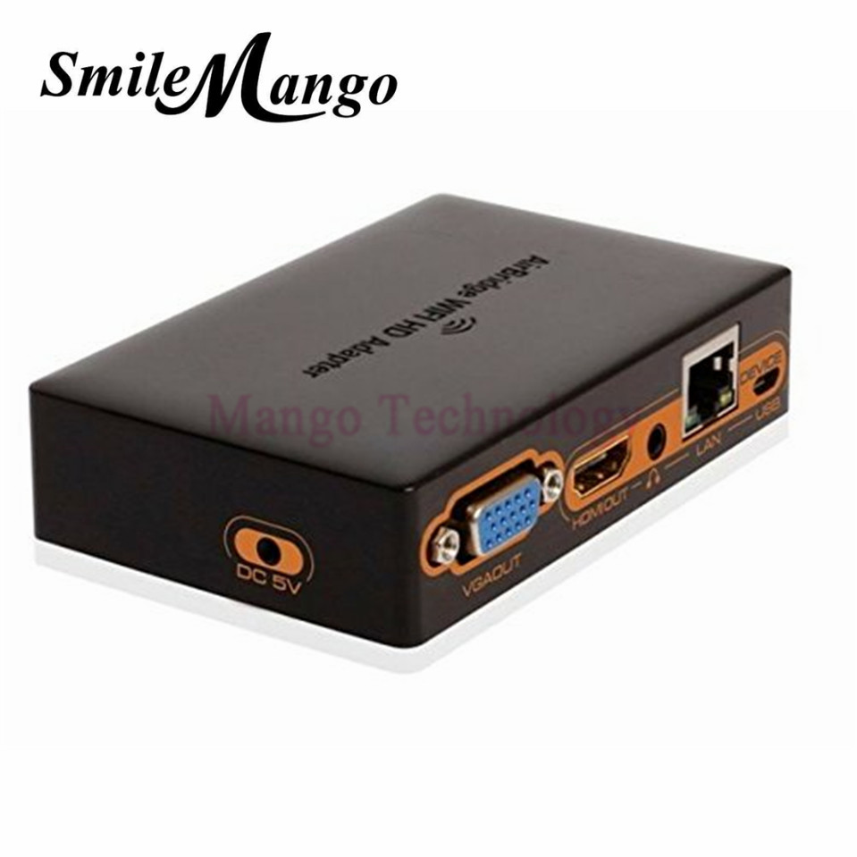 2016 1080P Wifi to HDMI VGA LAN HD Adapter Wireless Transmitter to TV /Projector Support Android IOS Windows Converter