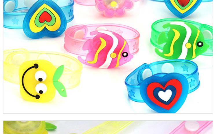 1pcs Cartoon LED Night Light Party Xmas Decoration Colorful LED Watch Toy Boys Girls Flash Wrist Band Glow Luminous Bracelets (14)