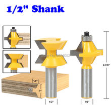 """2 Cái 1/2 """"Shank Router Bit Set 120 Độ Chế Biến Gỗ Rãnh Tool Đục Cutter"""