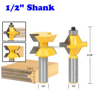 "Image 1 - 2Pcs 1/2"" Shank Router Bit Set 120 Degree Woodworking Groove Chisel Cutter Tool"