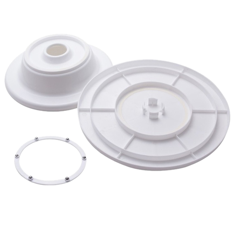 Practical New Rotating Revolving Decorating Stand Cake Sugarcraft Turntable Platform Mould (White)