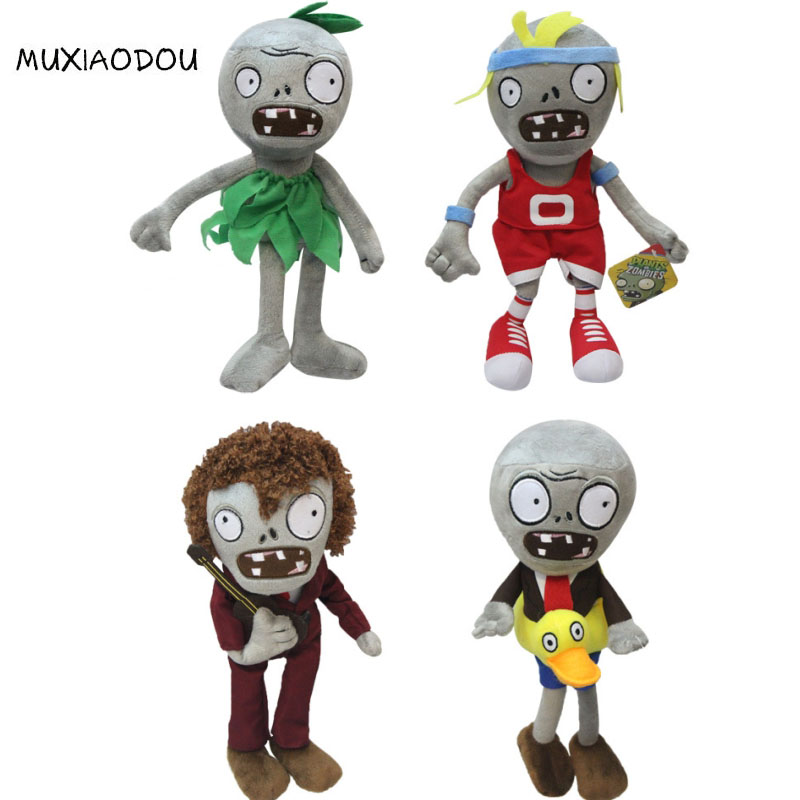 MXD Brand Plants vs Zombie Stuffed Toys Doll New 30cm Plants vs Zombies Plush Toys Kawaii Plush Children Kids Toys Birthday Gift fancytrader new style giant plush stuffed kids toys lovely rubber duck 39 100cm yellow rubber duck free shipping ft90122
