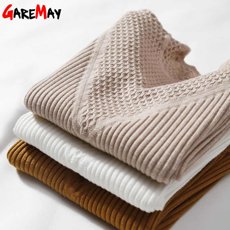 Garemay Winter Sweater Women Pullover Knitted Long Sleeve Casual Turtleneck Sweaters Female Womens Jumpers Knitwear Sueter Mujer