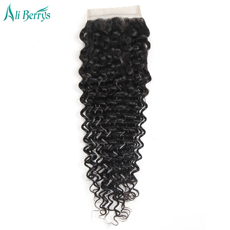 Ali Berrys Hair Free Part Closure Remy Brazilian Deep Wave Human Hair Lace Closure 10 20