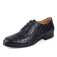 2019 Mens Cowhide Business Leisure Leather Shoes Tip-toe Large Wharf Genuine Size Cross-border