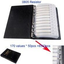 цена на 8500Ppcs/set 0805 SMD Resistor Assortment Kit Sample Book 170value x 50pcs 1/8W 5%