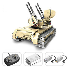 Qihui Military Vehicles German King Tiger Tank Building Blocks Sets WW2 Army Figures RC Soviet Tanks Bricks Model Toys For Boys