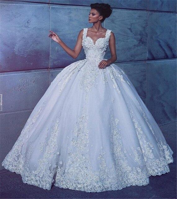 Bohemian Wedding Dress Vestido De Noiva Princesa 2017 Gorgeous Ball Gown Wedding Dresses