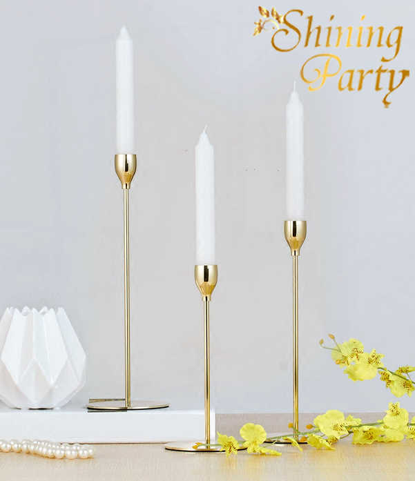 Shining Party, Gold Color Candle Holders, Ornament Candlestick, Wedding Centerpiece, Wedding Party Christmas Home Bar Decoration