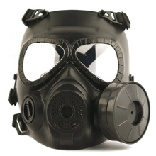 цена на Tactical Head Masks Resin Full Face Fog Fan For Wargame Airsoft Paintball Dummy Gas Mask with Fan For Cosplay Protection