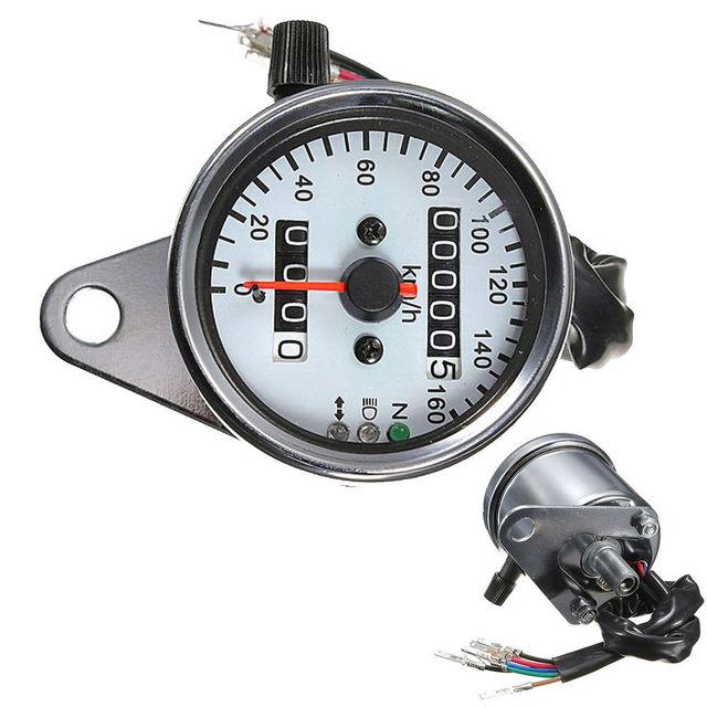 EE support Universal Motorcycle LED Digital Dual Odometer Speedometer Speed Gauge Backlight Sale XY01