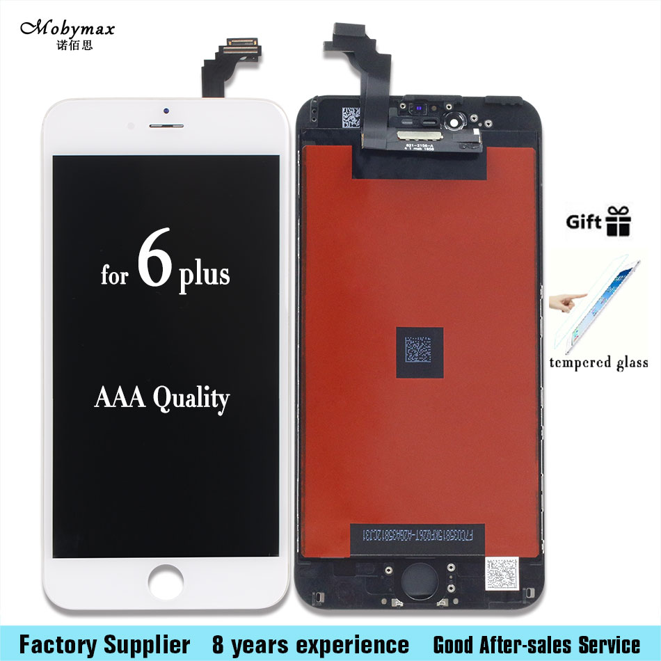 Black or White LCD Display + Touch Digitizer Screen Assembly For iPhone 6 Plus 5.5 2017 with Tempered film