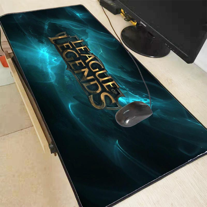 Mairuige League of Legends Mouse Pad Locked Edge Pad To Mouse Notbook Computer Large Mousepad 90x40cm Gaming Padmouse Gamer image