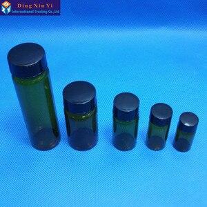 Image 5 - 5 ml 50 개/몫 스크류 캡 투명 액체 샘플링 샘플 유리 병 튜브와 갈색 유리 병 무료 배송