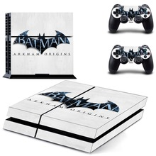 PS4 Batman Sticker Vinyl Decal Protective Skin Cover for Sony PS4 Console And 2 Dualshock Controllers