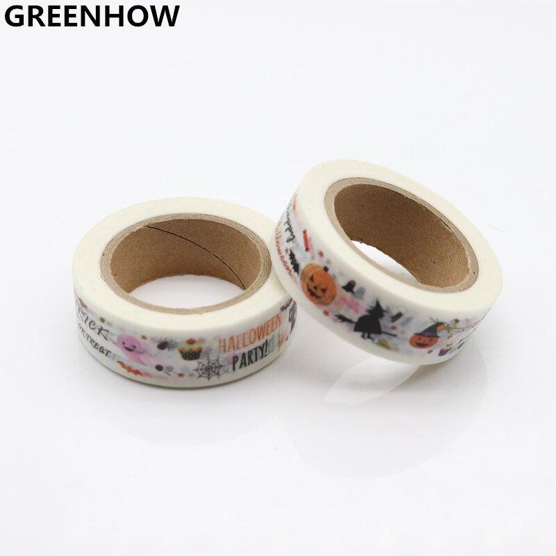 GREENHOW  Halloween Japanese Stationery DIY Masking Washi Tape Adhesive Tape 8025