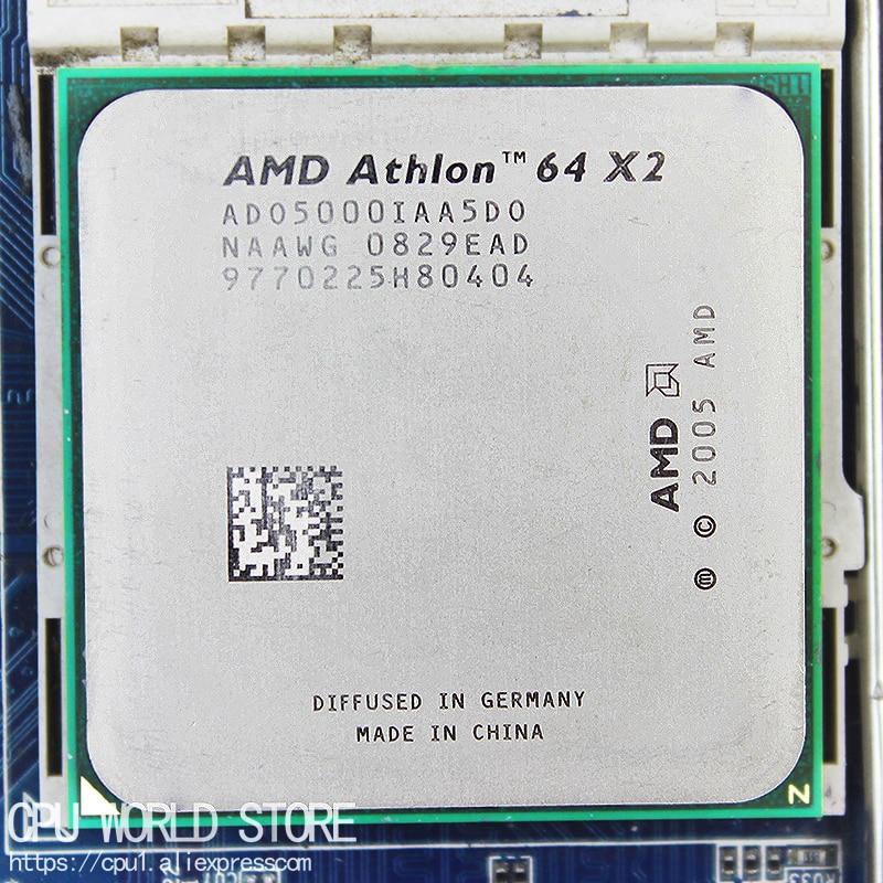 AMD Athlon 64 X2 5000+ Dual-Core CPU Processor 2.6Ghz/ 1M /1000GHz Socket Am2 940 Pin Working