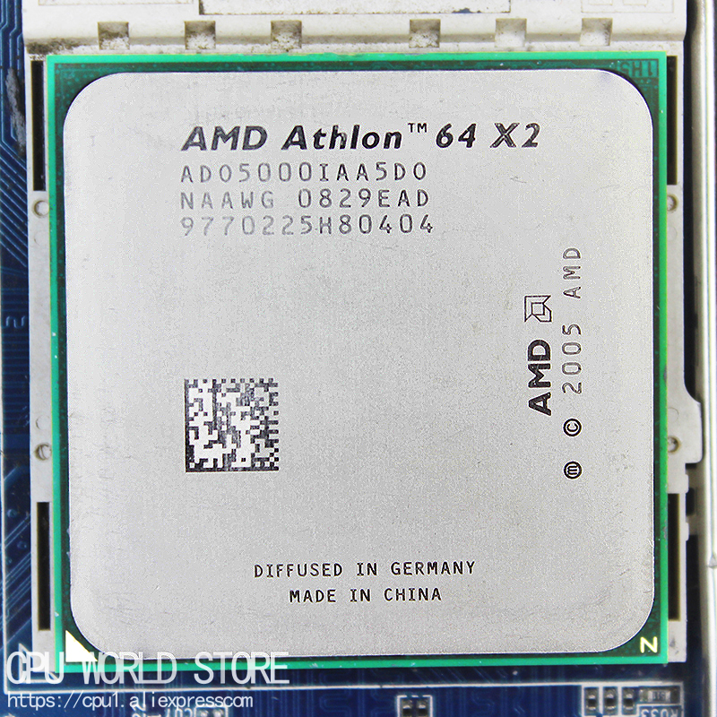 AMD Athlon 64 X2 5000+ Dual-Core CPU <font><b>Processor</b></font> 2.6Ghz/ 1M /1000GHz <font><b>Socket</b></font> <font><b>am2</b></font> <font><b>940</b></font> pin working image