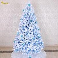Teellook 1.2m/3.0m blue flocking luminous Christmas tree Christmas day hotel shopping mall home decoration