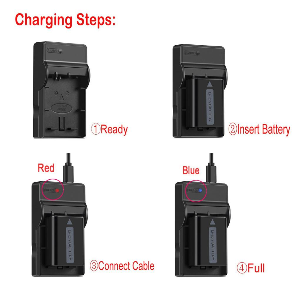 Conenset NP-FM50 NP-FM500H USB charger For Sony a200 a300 a350 a700 a58 a99 a560 a580 a100 a99 a77II Camera Battery