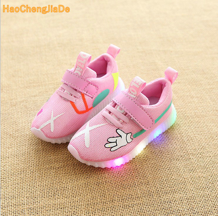 Luminescence Children's New Baby Flash Lamp Girls Light Sneakers Led 2018 Shoes Network S5LARc34jq